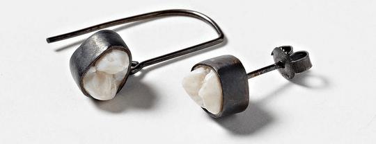 human tooth jewellery