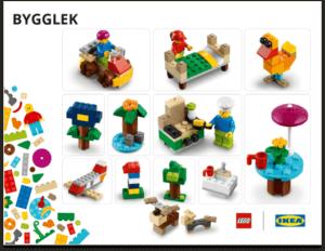 Bygglek lego at IKEA
